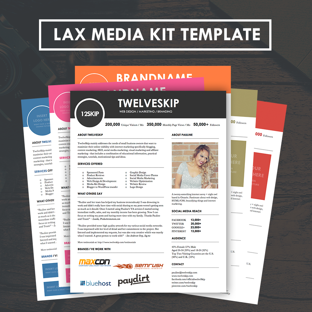 advertising media kit template lax media kit