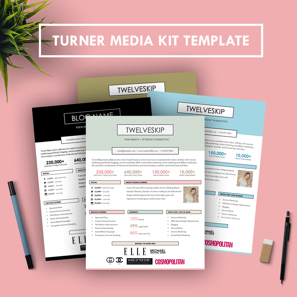 Turner media kit for Advertising media kit template