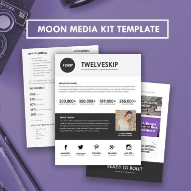 Moon Media Kit Template