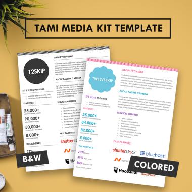 Tami Media Kit Template